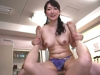Cute stud delighting Nikaidou Yuri's cunt for extra marks